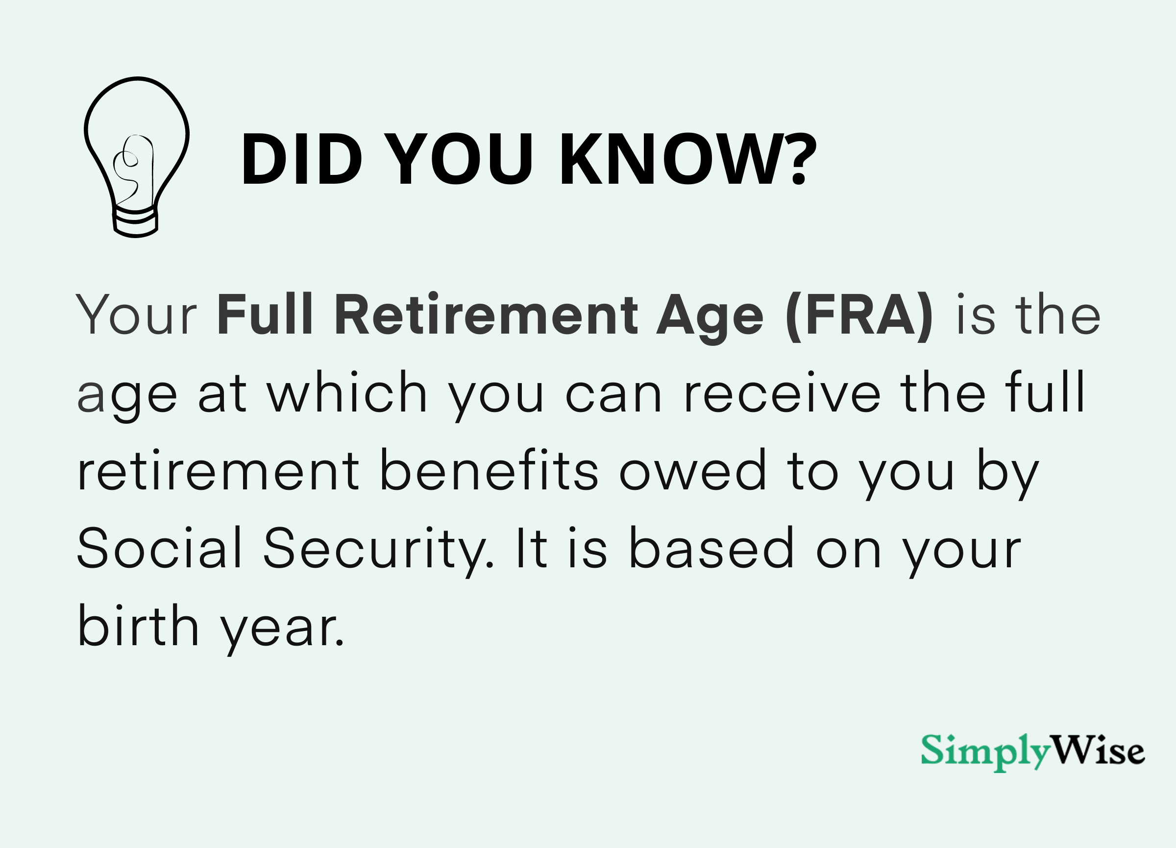 what is FRA social security