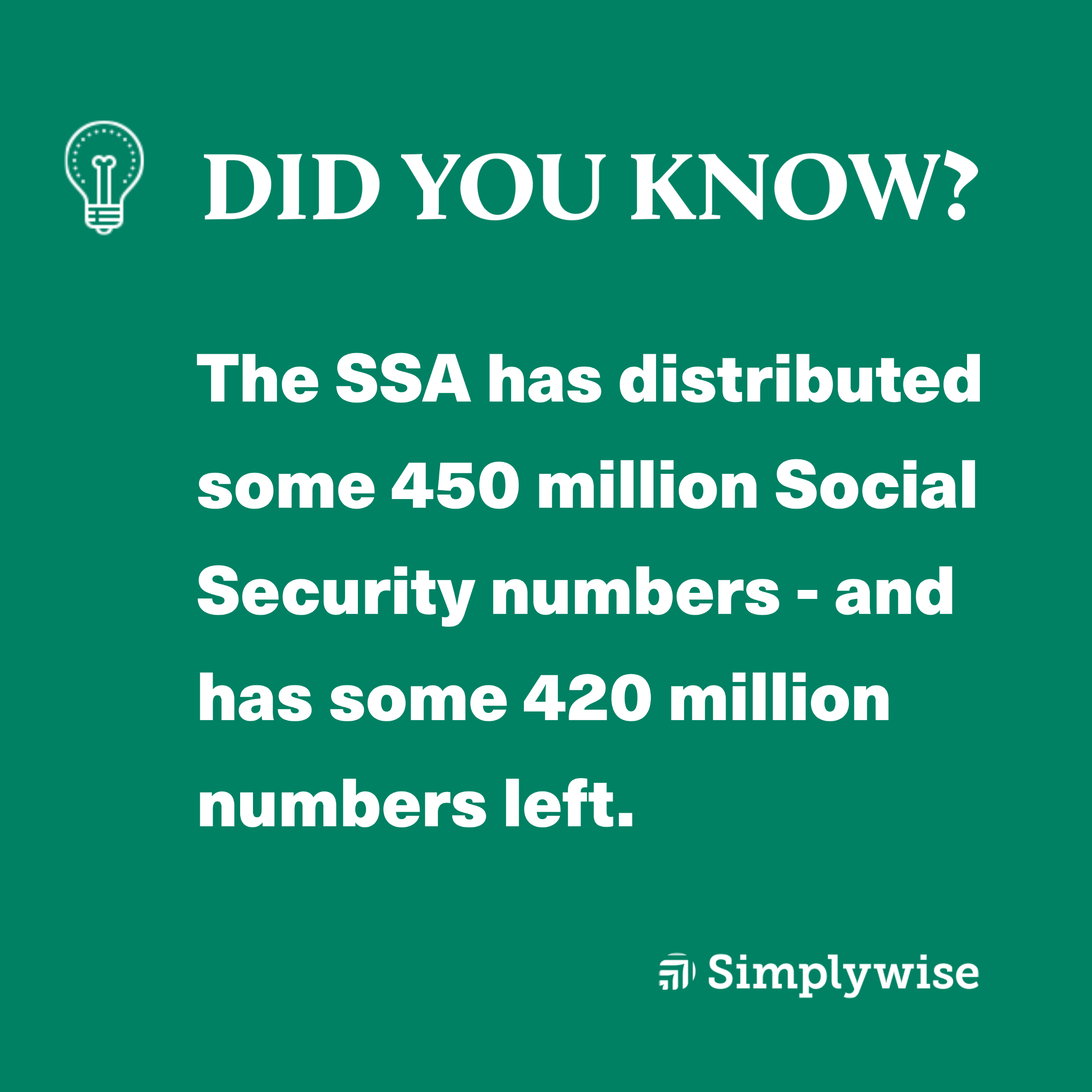 how many Social Security numbers