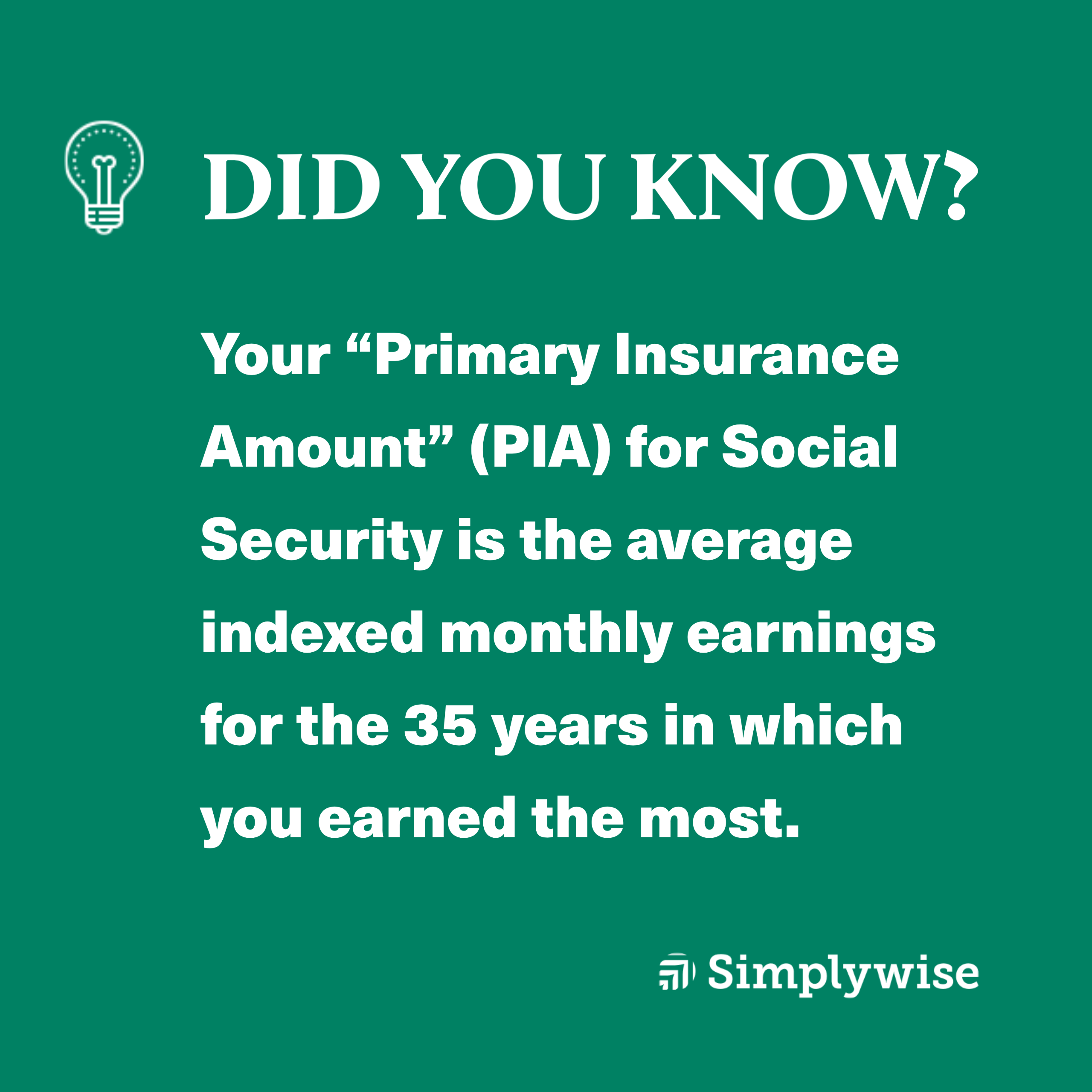 how to calculate primary insurance amount